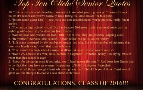 Top Ten Cliché Senior Quotes