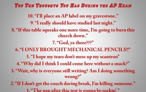 Top Ten Thoughts You Had During AP Exams