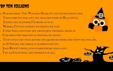 Top Ten Villains this Halloween