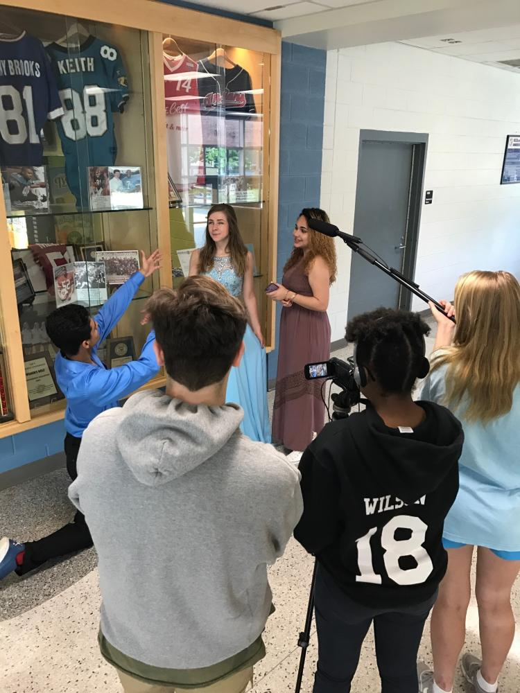 Acting out a scene of a movie, these student-actors are finishing up an IB Film project. These IB students are working hard now to ensure them a future full of success.