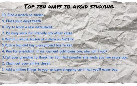 Top Ten Ways to Avoid Studying