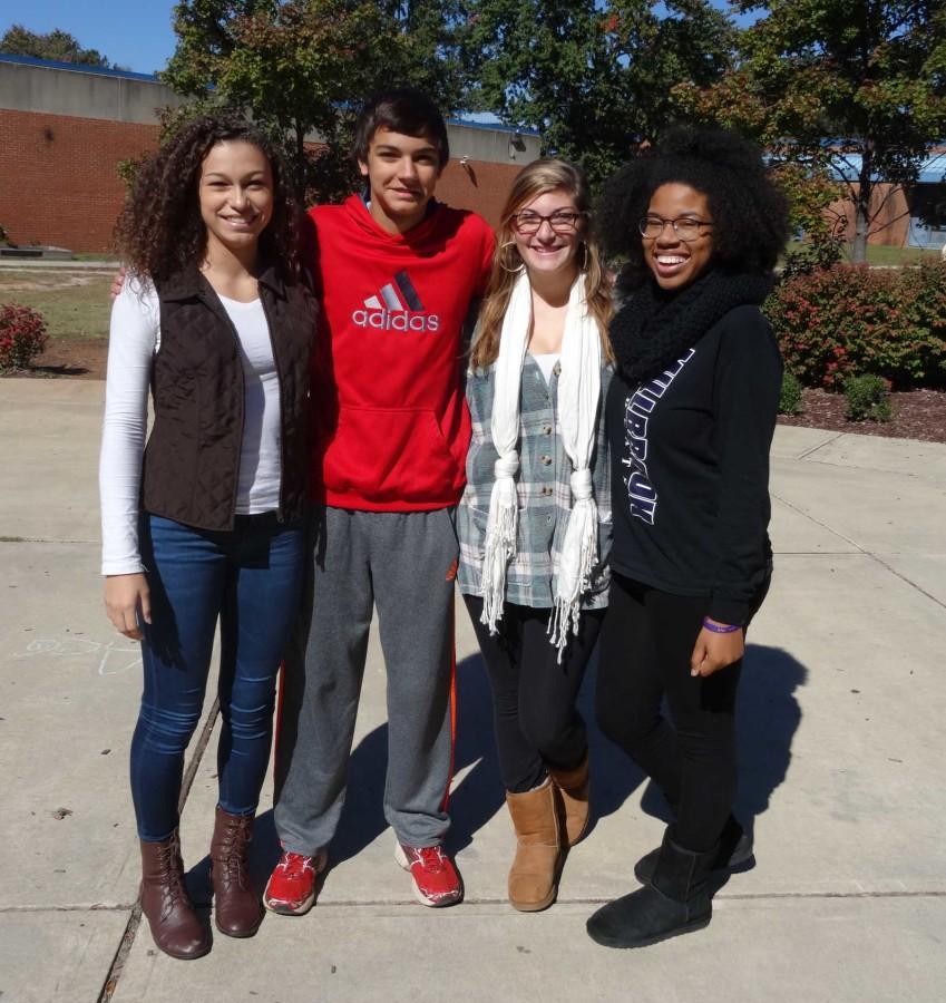 (Left to right) Arianna Rosario, Alex McCloskey, Alex LaRocca, Brooke Bennett