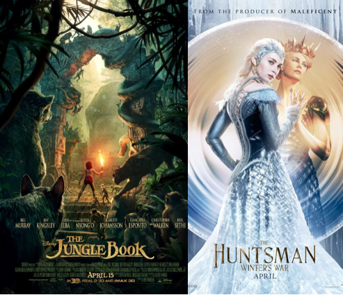 Make sure to check out this month's top movies including The Jungle Book premiering April 15 and The Huntsman: Winter's War premiering April 22.