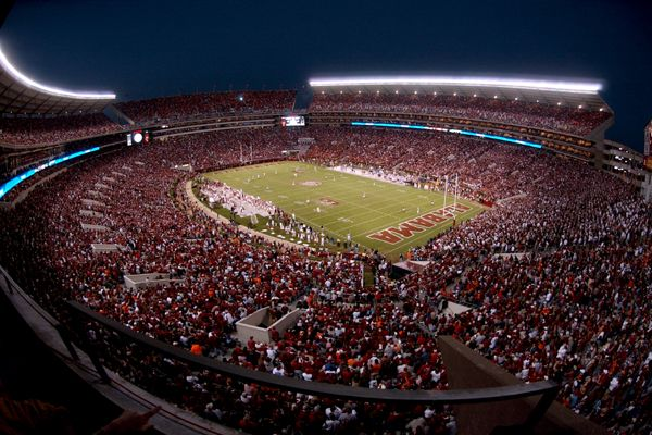The packed Bryant Denny stadium as shown above will be filled to max capacity again for this years Iron Bowl. The Alabama fans as shown in the picture above hope to keep their perfect season going and reach 12-0 to end the regular season.