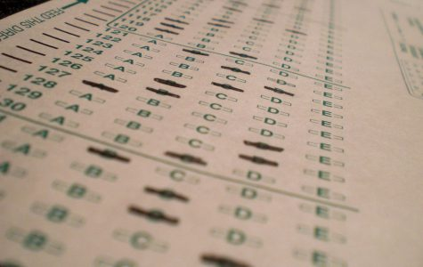 : Bubbling in the traditional testing scantron, students are normally tested by multiple choice question tests.  High schools are starting the lean more towards Project Based Assessments.