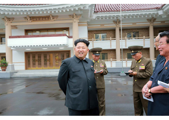 Making a public appearance, President Kim Jong Un addresses citizens of North Korea. Kim Jong Un has continued to escalate North Korea's nuclear program, and has ordered the test of multiple nukes.