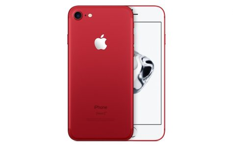 Featured in its bold new design, the iPhone 7 (RED) hits the market. The (RED) foundation supports finding a cure for AIDS and Apple joins the campaign.