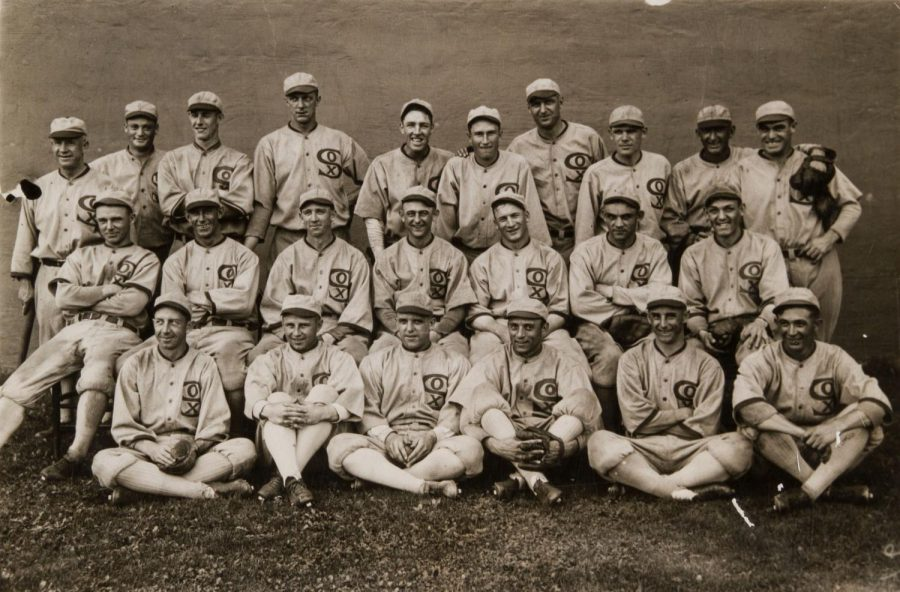 Smiling+for+a+team+picture+during+the+1919+MLB+season%2C+the+Chicago+White+Sox+had+no+clue+what+would+be+in+store+for+them+in+the+future.+Of+the+twenty-three+men+pictured+here%2C+eight+of+them+were+banned+from+Major+League+Baseball+for+life%21+