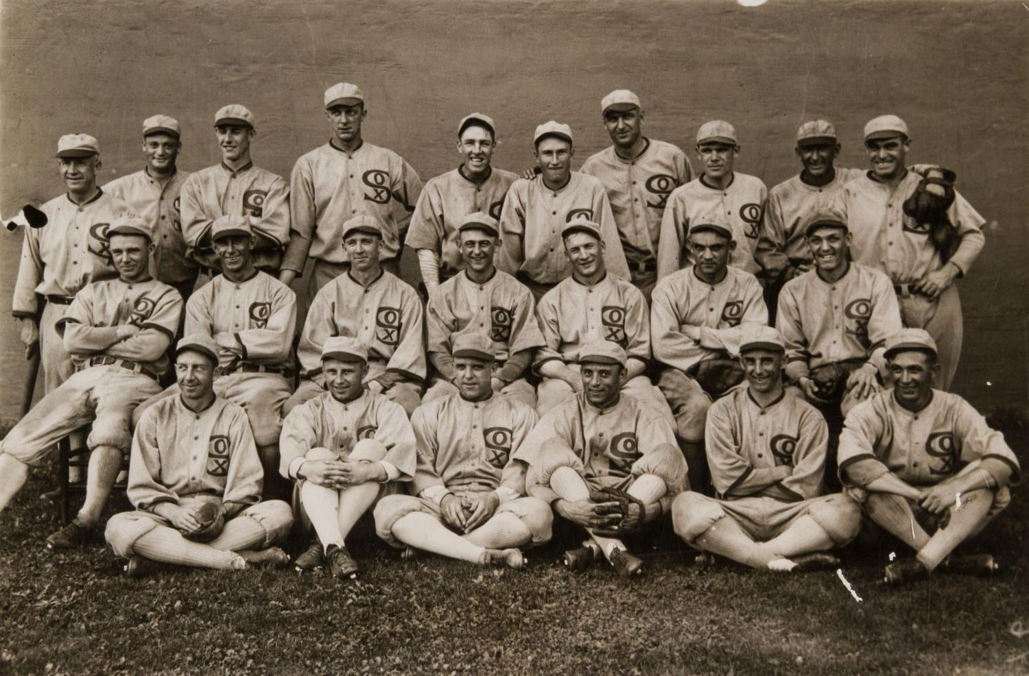 Smiling for a team picture during the 1919 MLB season, the Chicago White Sox had no clue what would be in store for them in the future. Of the twenty-three men pictured here, eight of them were banned from Major League Baseball for life!