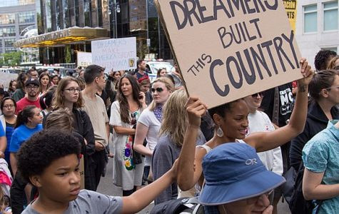 Protesting against the revocation of DACA, numerous American citizens gather to make their opinion on the issue known. Many people are against taking away DACA due to the potential of deporting many illegal immigrants.