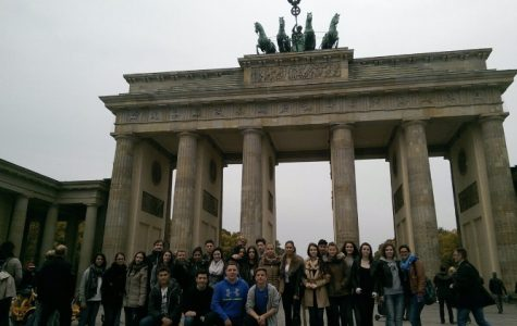 Visiting the Brandenburg Gate in Berlin, Teresa and her classmates learn about the Batavian Revolution. Teresa sill calls Germany home but is actively embracing the American culture.