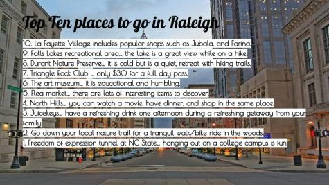 Top Ten Places to Go in Raleigh