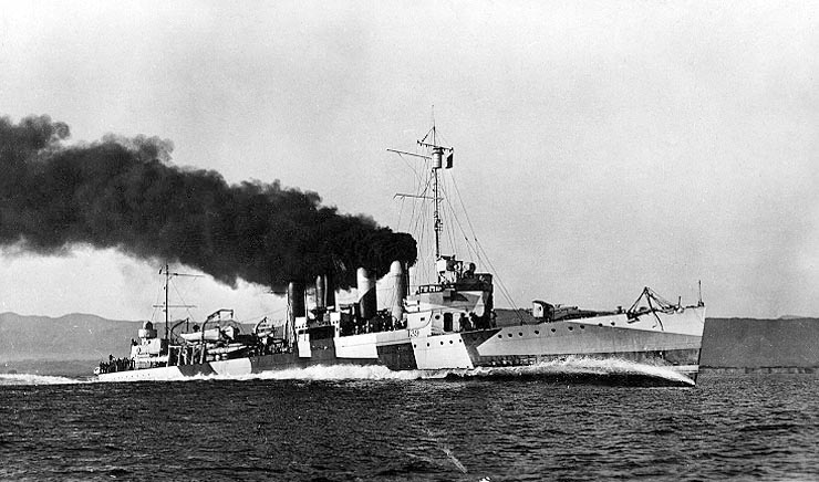 Sinking in Ormoc Bay in the Philippines, the USS Ward bids a final farewell to its stint as a high-speed transport ship for the U.S. The Ward, which fired the shot that prompted America into World War II, was recently found in the waters of Ponson Island in the Philippines.