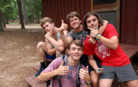 Posing with his friends, Sam gives two thumbs to a great summer being a trainee at Camp Kanata. This is one of many ways Sam spends his time and exhibits great leadership skills, which is what makes him a spectacular student.