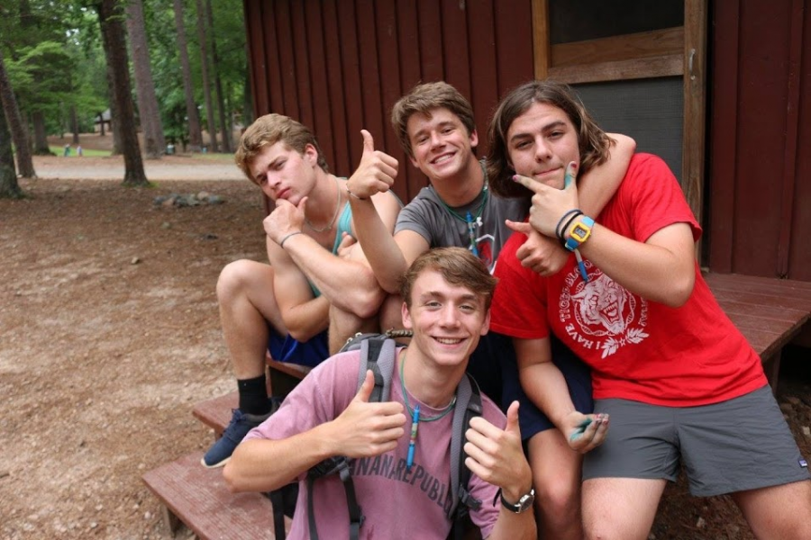 Posing+with+his+friends%2C+Sam+gives+two+thumbs+to+a+great+summer+being+a+trainee+at+Camp+Kanata.+This+is+one+of+many+ways+Sam+spends+his+time+and+exhibits+great+leadership+skills%2C+which+is+what+makes+him+a+spectacular+student.%0A
