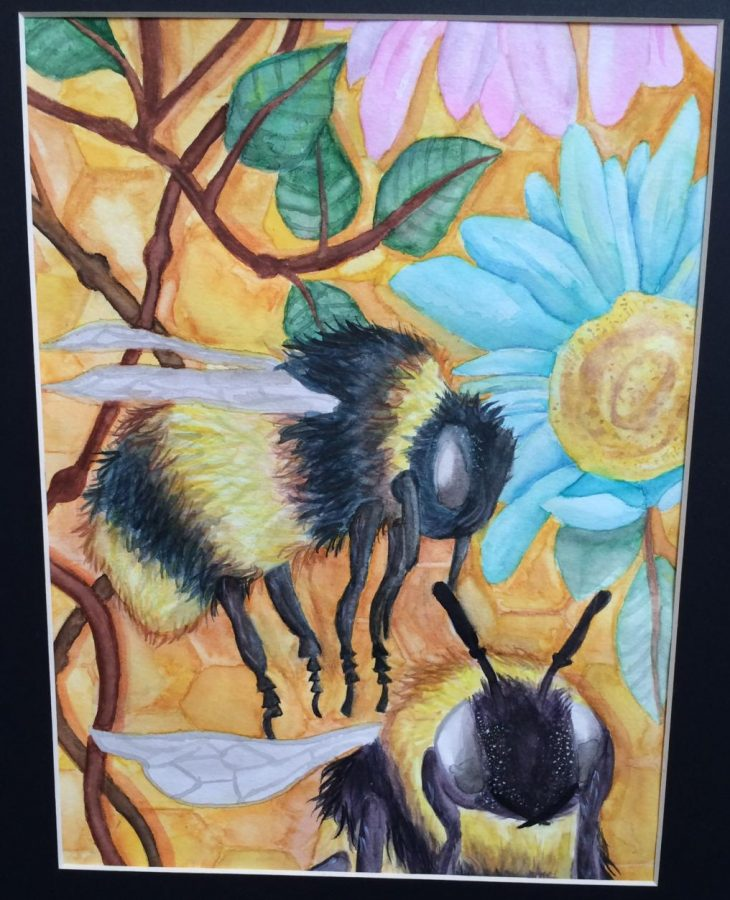 With excitement buzzing through the air, Anna Overton's more recognized work hangs high in at the North Carolina State Fair. Having already won her first award, this Millbrook student was only getting started with her work in the visual arts.