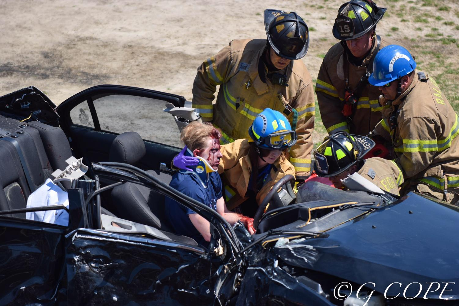 Carrying out an intensely realistic car wreck simulation, Millbrook students demonstrate the tragedy that is very probable to occur as a result of distracted or intoxicated driving. Speaker Jack Molloy shares the story of losing his sister to drunk driving in hopes to make students realize the importance of attentive driving and careful decision making.