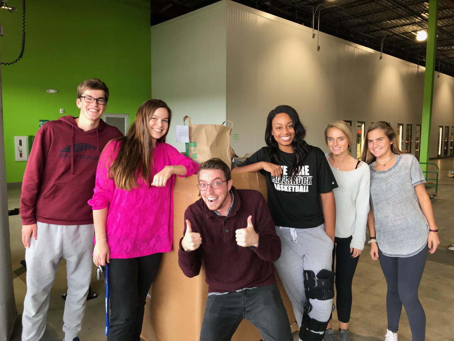 Helping those in need, newly elected Student Body President, Ryan Rebne, along with other members from Millbrook's Executive Board helped bring food and money to the North Carolina Food Bank. This student led food drive aided in providing over 9,000 meals for people in 34 different counties.
