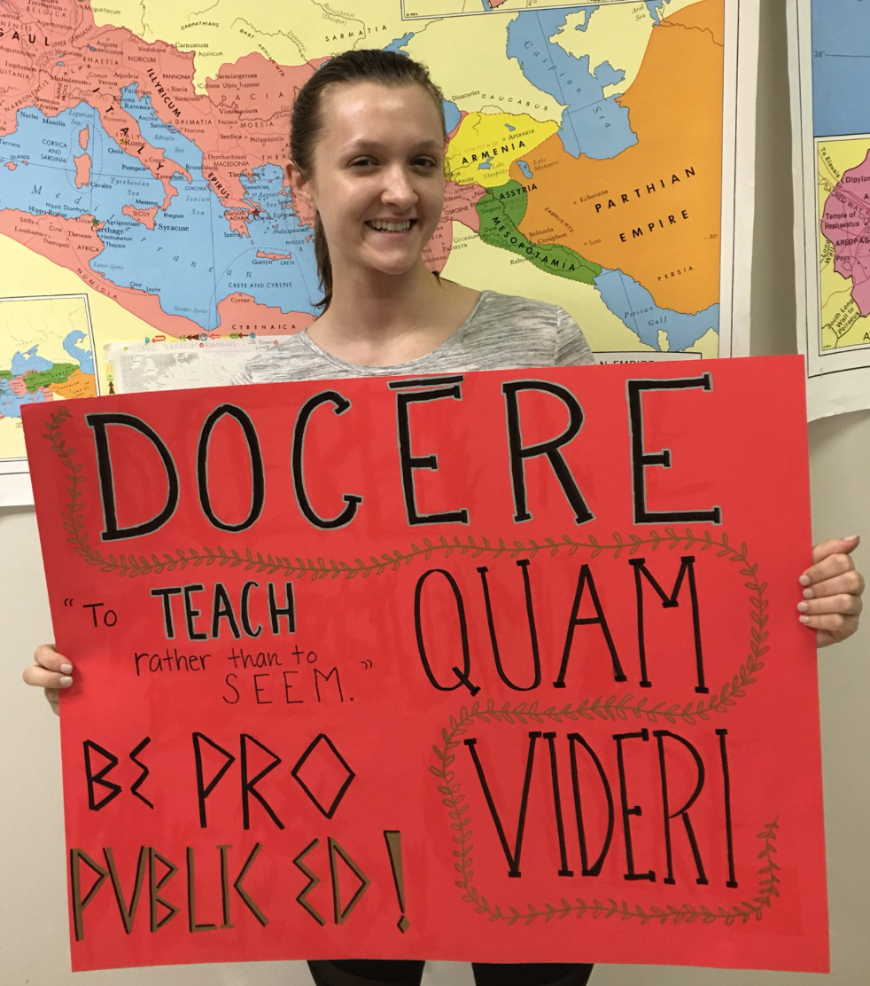 Marching and Rallying was on the agenda today for thousands of educators and students in North Carolina. Students and teachers from MHS have also gotten involved with the protests. Students like Kelly Garrett created posters alongside one of her teachers, Ms. Byrd.
