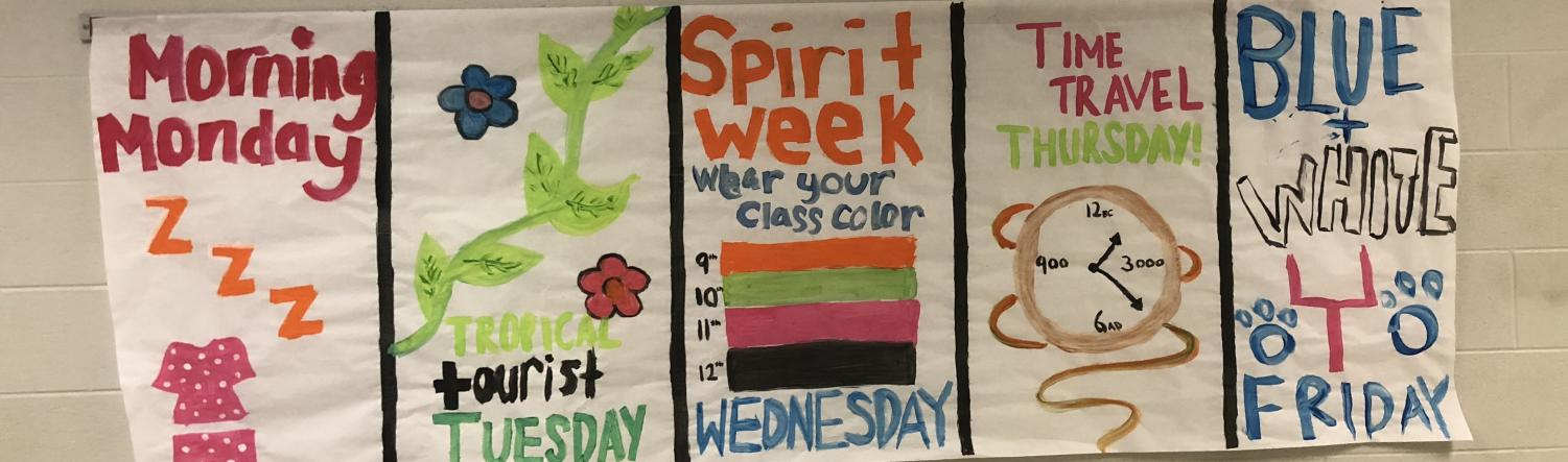 Hanging around the school, posters will help you to remember which day each outfit should be worn. Spirit Week only happens once a year, so make sure to participate!