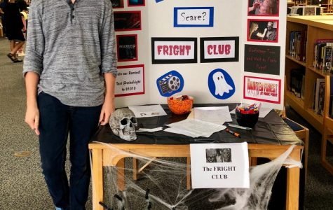 During the activity fair, the Fright Club booth gives visitors a spooky sneak peak at what is to come. The Fright Club has off campus field trips, horror prosthetic and makeup tutorials, and movie nights planned for the upcoming year.