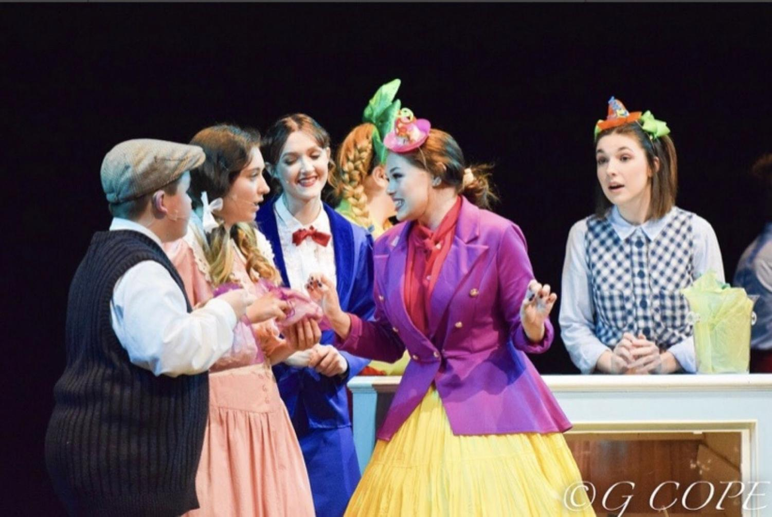 Performing in last spring's musical, Natalie Kincaid starred as Mr. Corry alongside Andrew Bonsted, Riley Yates, Kelly Garrett, and Lanie Winkler in Millbrook's spring musical, Mary Poppins. With Natalie's stage presence, Mary Poppins will surely be remembered!