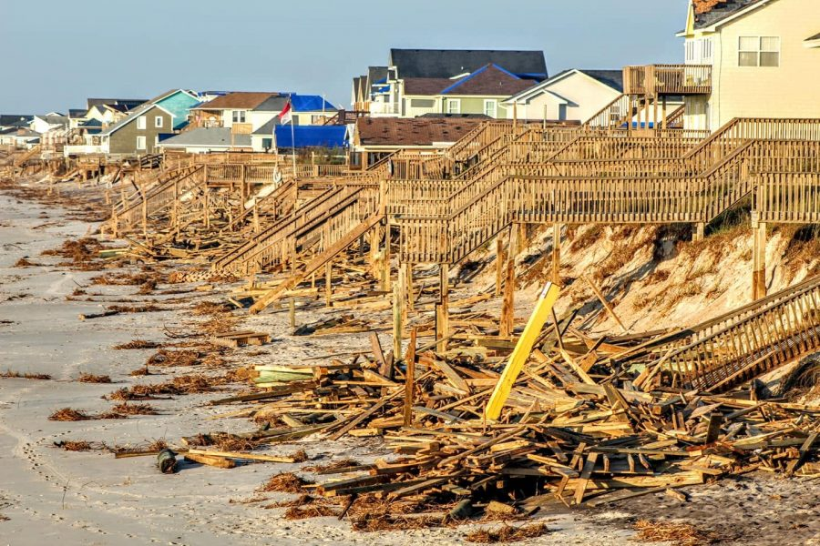 Devastated+by+the+destructive+forces+of+Hurricane+Florence%2C+many+residents+in+North+Topsail+Beach+returned+to+see+their+homes+subject+to+property+damage+from+the+storm.+Both+winds+and+flooding+played+a+large+role+in+property+and+environmental+degradation+during+this+devastating+storm.