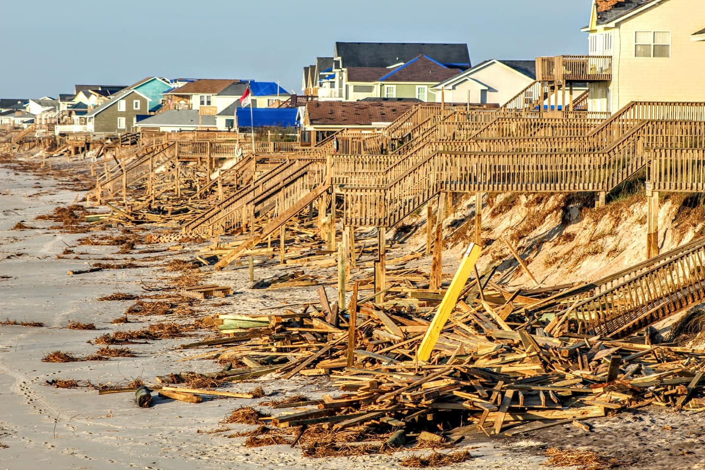 Devastated by the destructive forces of Hurricane Florence, many residents in North Topsail Beach returned to see their homes subject to property damage from the storm. Both winds and flooding played a large role in property and environmental degradation during this devastating storm.