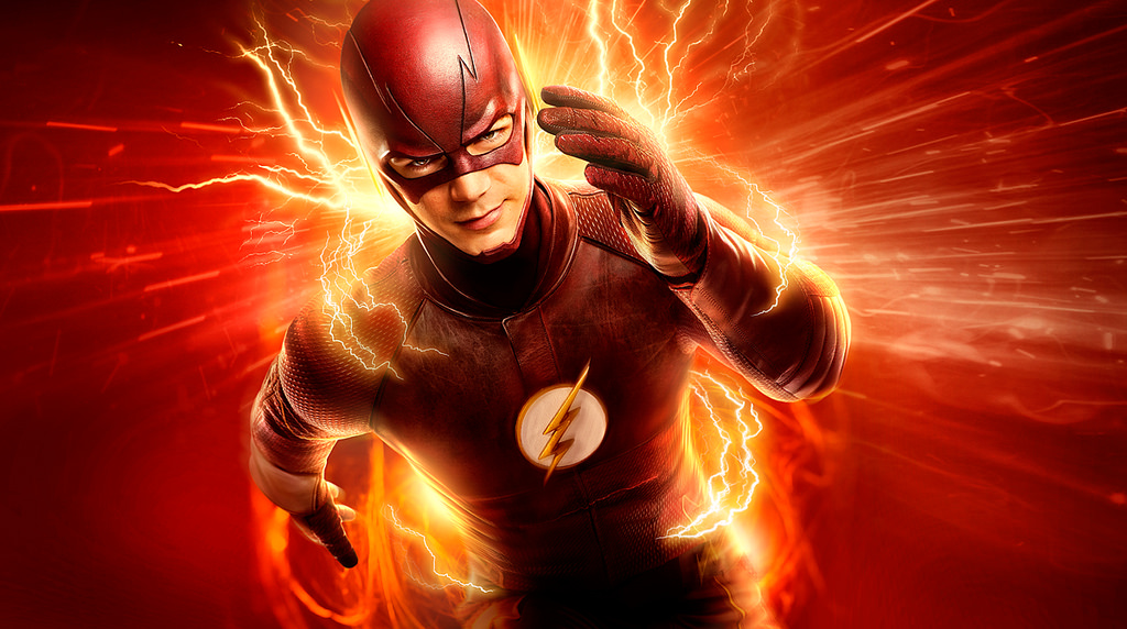 Barry Allen running to protect his city. He'll always make sure he gets there in a flash.