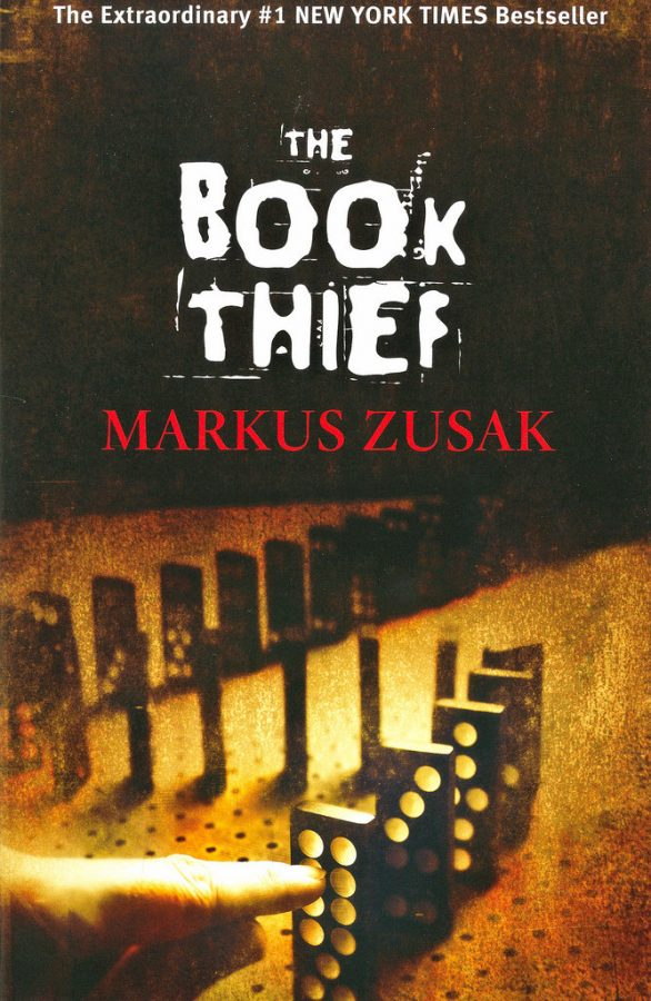 The cover of The Book Thief shows that, like dominoes, one event can lead to a chain of events that are all connected to each other. The language and how the book is written, with huge social and political change going on in the background, gives readers a very different perspective of causation.