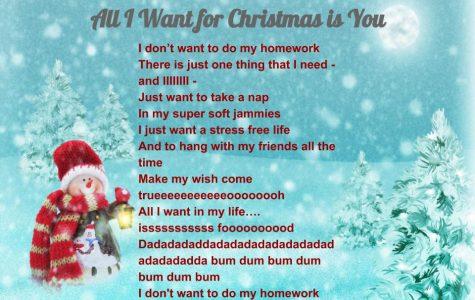 """Millbrookized"" Christmas Carols: All I Want for Christmas is You"