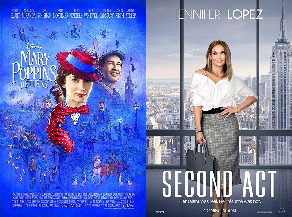 Portraying two intelligent and independent heroines, Mary Poppins Returns and Second Act are two new films that came out this month. Both films are perfect movies to watch that spotlight a female protagonist that inspires many women around the world.