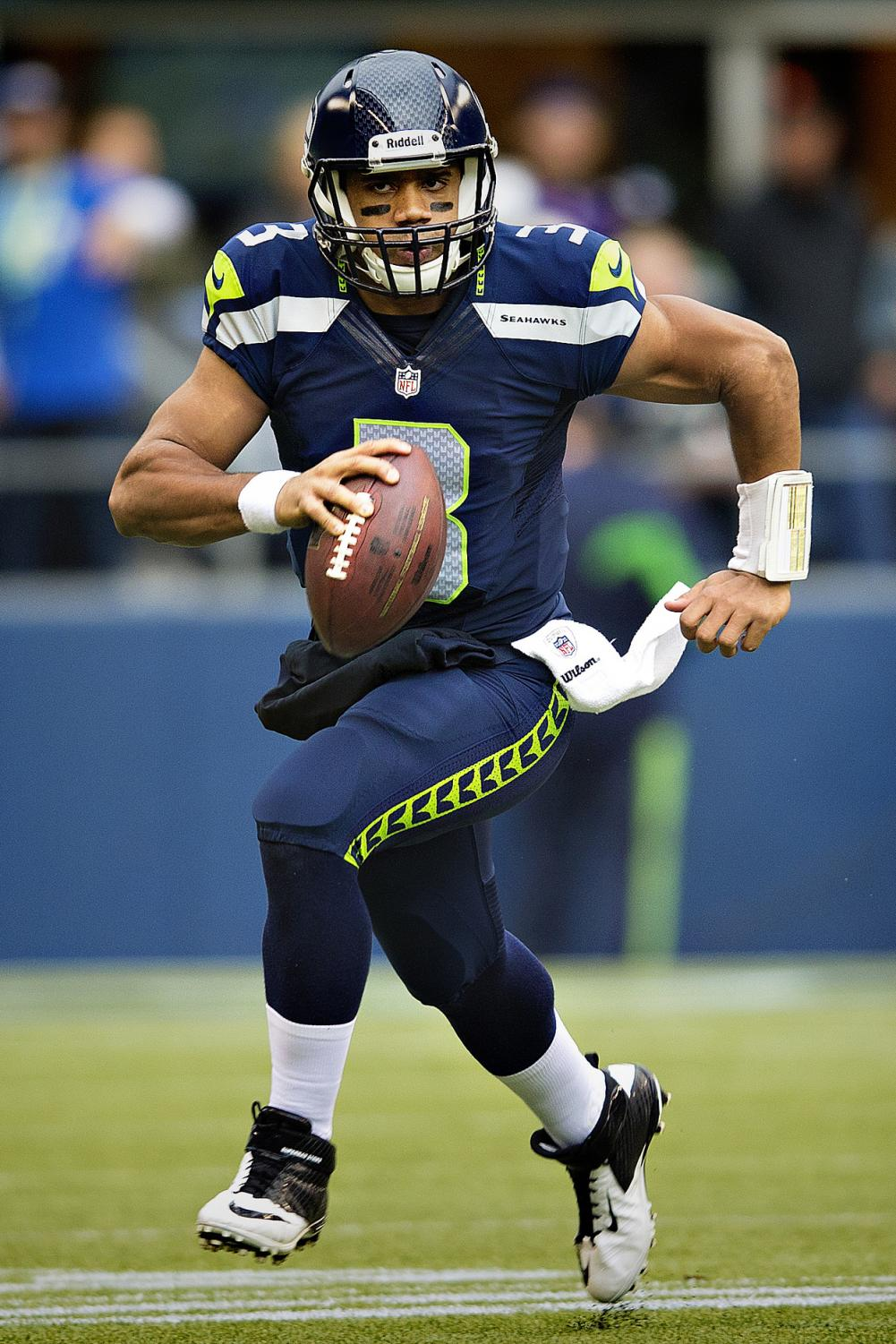 Running down the field with the ball, Russell Wilson looks for a teammate in the endzone to pass the ball to. Wilson is one of the many athletes in the past to chose football over other sports, but with increasing knowledge on concussions, could we begin to see a new trend in sports?