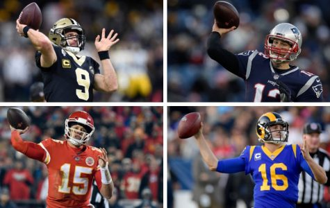 Getting ready to throw to their receivers, these NFL quarterbacks will lead their team into the Conference Championships. The Rams will be facing the Saints, and the Patriots will be facing the Chiefs tomorrow for the right to go to the Super Bowl.