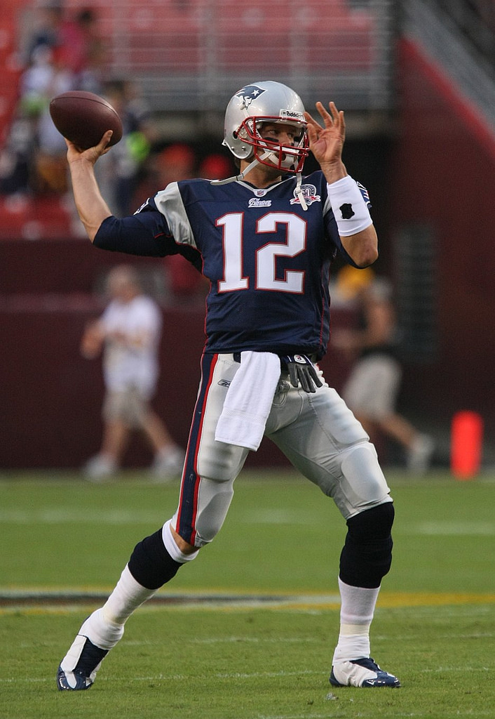 Patriots quarterback Tom Brady prepares a pass towards his receivers during the NFL season. Brady, as well as the rest of his team, scored a total of 13 points to put them on top in order to be titled the 53rd Super Bowl Champions.