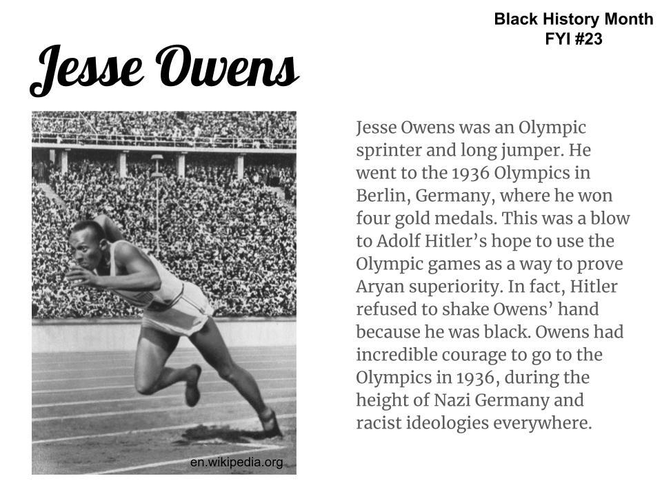Image result for jesse owens black history month