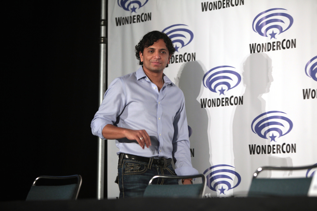 Preparing for a live panel, Shyamalan is ready to speak about his next project. This panel took place the same year as his movie Split was released giving many fans confidence in his future of film.