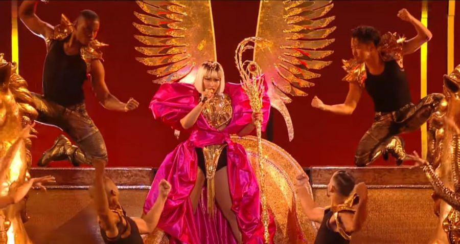 Performing+during+the+annual+MTV+Video+Music+Awards%2C+Nicki+Minaj+takes+to+the+stage+in+an+effort+to+create+a+memorable+performance+for+her+fans.+Since+1984%2C+MTV+has+hosted+the+event+annually+and+viewers+have+seen+many+wild+performances.+