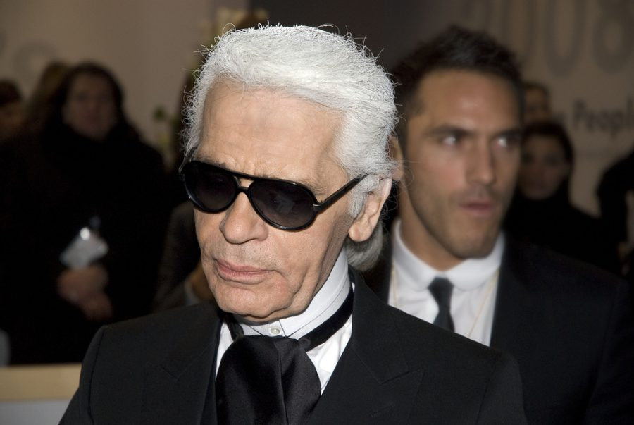 Entering the event, Karl Lagerfeld attends Volkswagen People's Night 2008, a social function in Berlin, Germany. Lagerfeld recently passed away as a result of the pancreatic cancer he had been dealing with since early January.