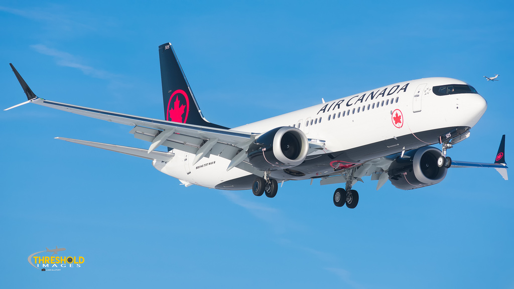 Landing on the runway, this Air Canada Boeing 737 MAX 8 completes its trip. Canada was one of the many countries to take these planes out of their flight rotations after another crash happened in Ethiopia.