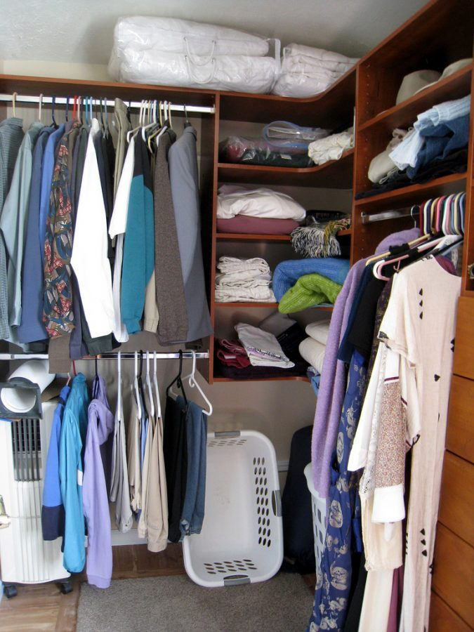 Arranged by articles of clothing, this closet has been cleaned out and organized, making everything easier to find. Spring cleaning is the perfect time to get around to all the chores and organization you may have been putting off.