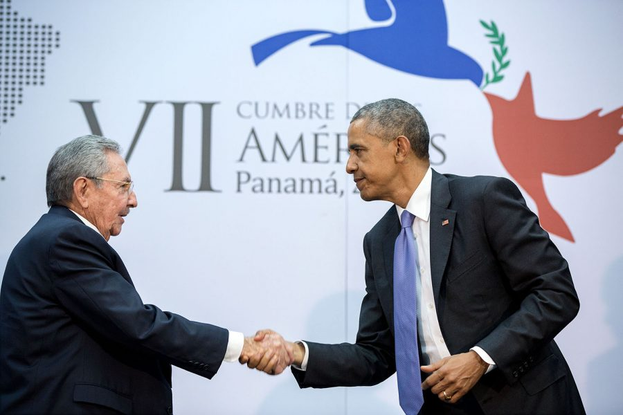 Former+US+president+Barack+Obama+meets+former+Cuban+president+Raul+Castro+to+discuss+relations+between+the+two+countries.+After+meeting+with+Cuba+in+2016%2C+the+countries+are+still+trying+to+define+their+new+relationship.