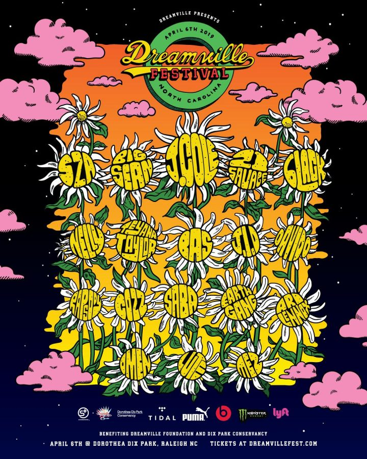 Promoting the upcoming music festival in Raleigh's largest city park Dorothea Dix Park, Dreamville Records released the lineup for the first-ever Dreamville Festival. Attendants will include Teyana Taylor, Nelly, Ari Lennox, and founder of the Dreamville foundation J. Cole.