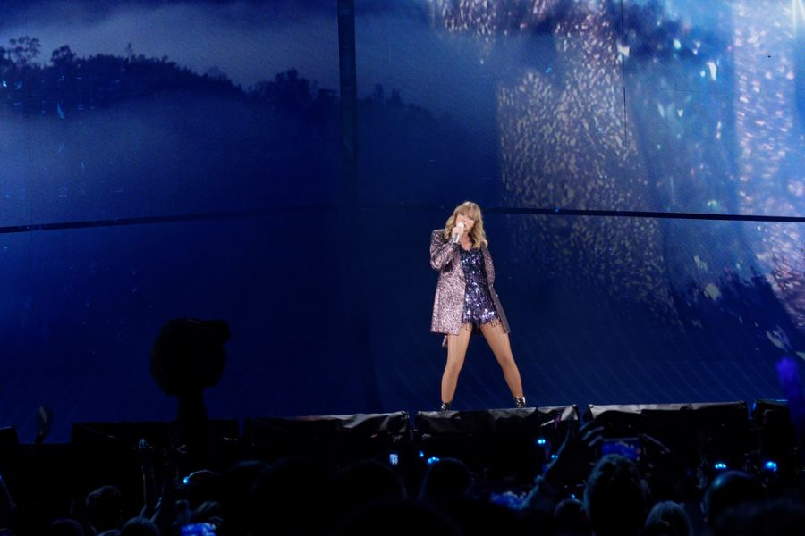 """Singing in front of hundreds of fans, Taylor Swift performs a number on her Reputation Stadium Tour, which included darker songs as compared to her newest single, which is cheerful, upbeat, and empowering. At midnight on Friday, April 26, Swift released the music video for her new song """"ME!"""" with Brendon Urie, which quickly hit #1 on YouTube."""