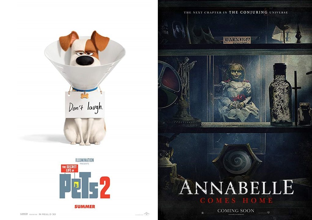 Advertising two new movies set to premiere this summer, The Secret Life of Pets 2 and Annabelle Comes Home are two different films that are sure to appeal to viewers. This summer there are dozens of movies that are perfect to see to escape the summer heat.