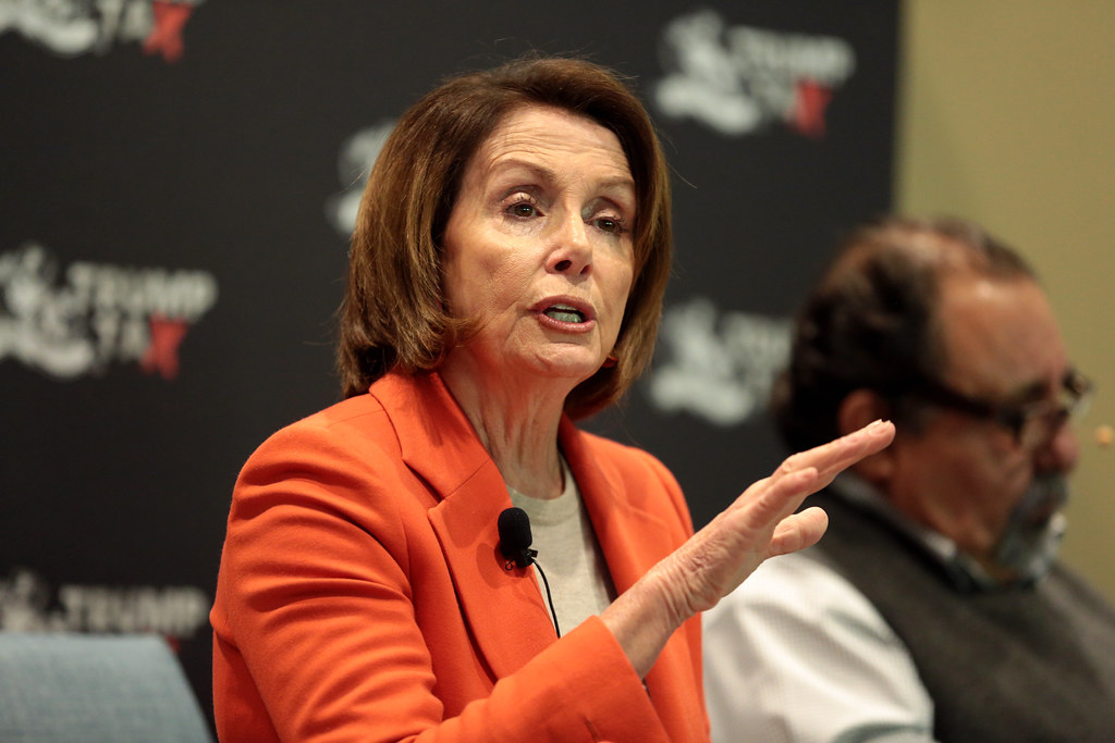 Speaking at a meeting, Speaker of the House Nancy Pelosi confronts the media about her strong opinions. Recently, tensions between her and President Donald Trump have increased, as she is advocating for his impeachment when she references him being a part of a cover-up story in order to stay in office.