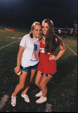 Sophomores Breanna O'Neill and Addison Dameron enjoy an end-of-summer football game before heading back to school. An exciting activity you can do with your friends or family is to attend a sports event such as a baseball or soccer games.