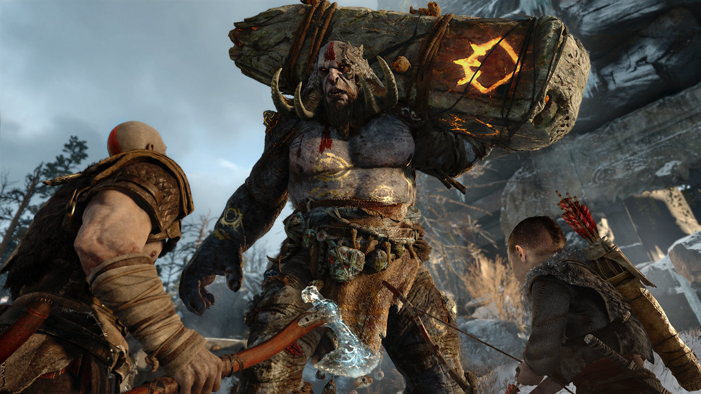 Fighting their way through the realm of Midgard, players follow Kratos into battle against a menacing troll. God of War is one of the critically acclaimed exclusives currently available on PS4.