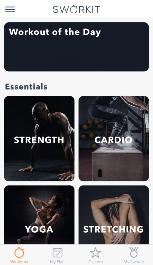 Featuring a multitude of different types of workouts, the fitness app Sworkit provides routines for strength, cardio, yoga, stretching, and more. Sworkit is great for those who do not have time to hit the gym but want to fit a workout in on the daily.