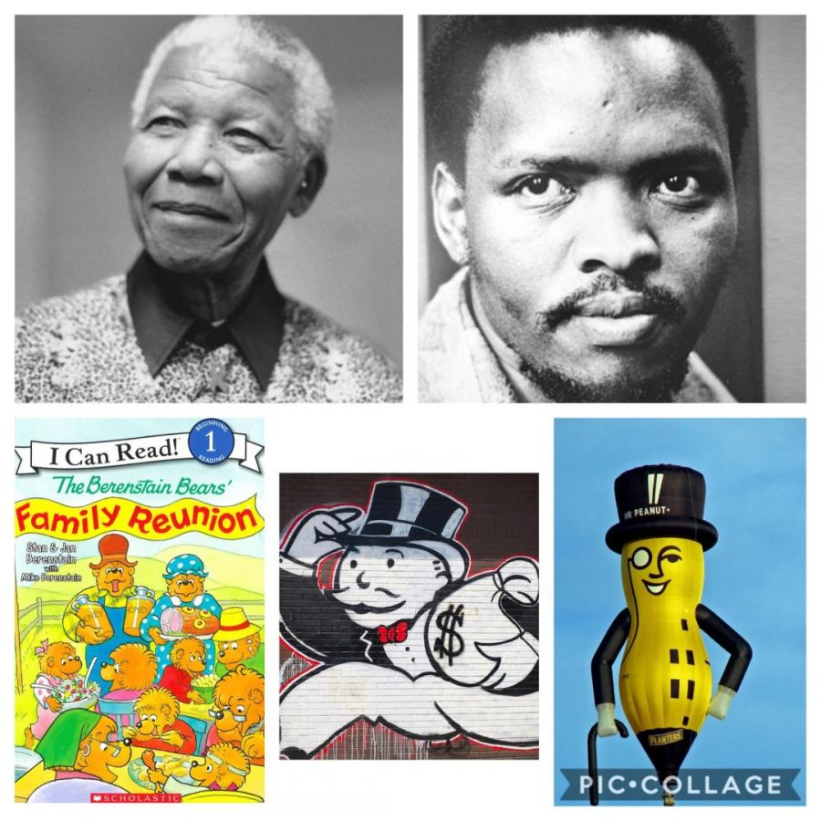 Picturing Nelson Mandela, Steve Biko, The Berenstain Bears, Rich Uncle Pennybags, and Mr. Peanut (from left to right, top to bottom), it is clear that there are some similarities between both South African activists, as well as between the Mr. Pennybags and Mr. Peanut. These similarities can cause the phenomenon of false memories, which are at the foundation of the Mandela Effect.
